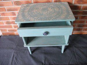 Chevet vintage turquoise par Atelier Yael Céladon 04